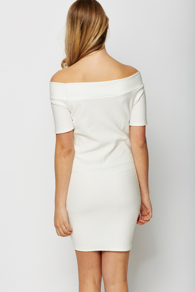 Textured Off Shoulder Dress