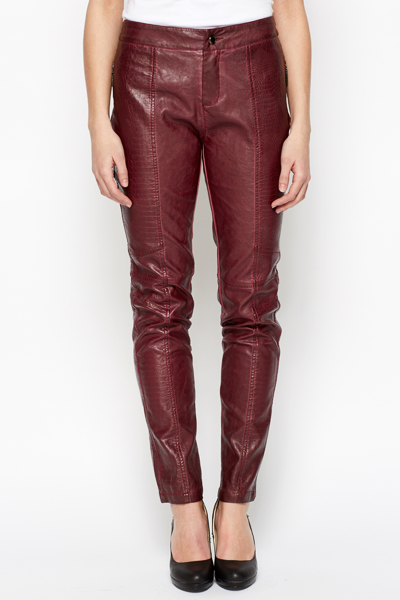 Mock Croc PU Trousers