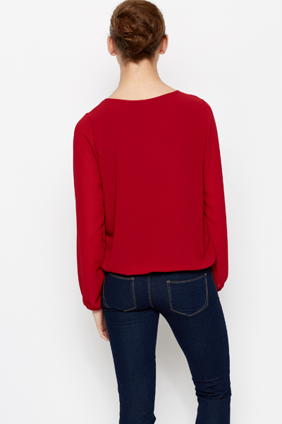 Daisy Embellished Neckline Top