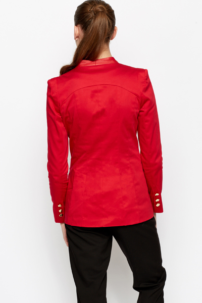 Longline Coloured Blazer Jacket