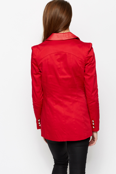 Single Button Front Longline Jacket