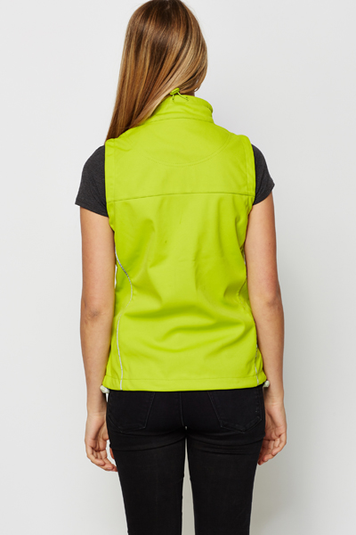 Sports Style Lime Gilet