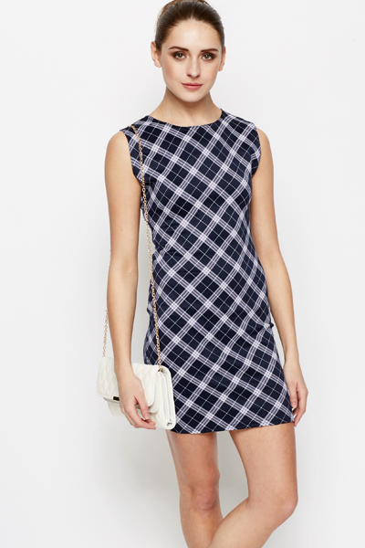 Tartan Check Bodycon Dress
