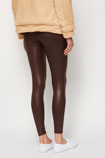 Brown Shine Leggings