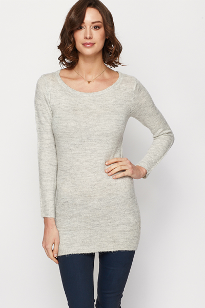 Soft Knit Longline Jumper Dress