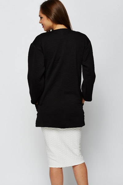 Black Jacquard Jacket