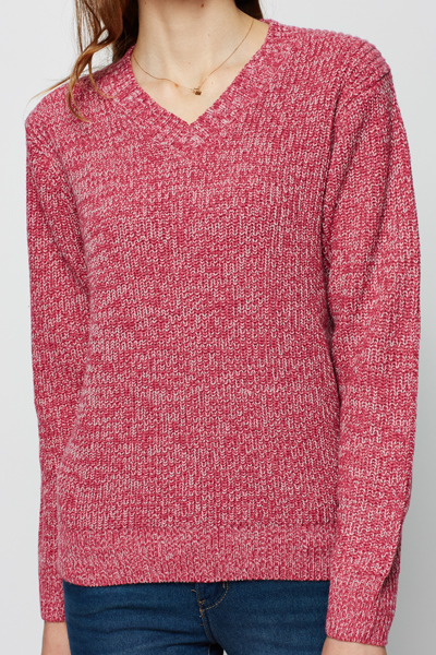 V-Neck Speckle Jumper