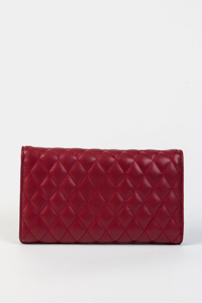 Burgundy Quilted Chain Bag