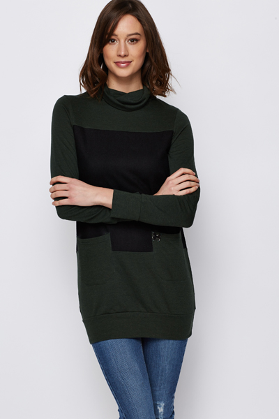 Butterfly Logo Contrast Tunic
