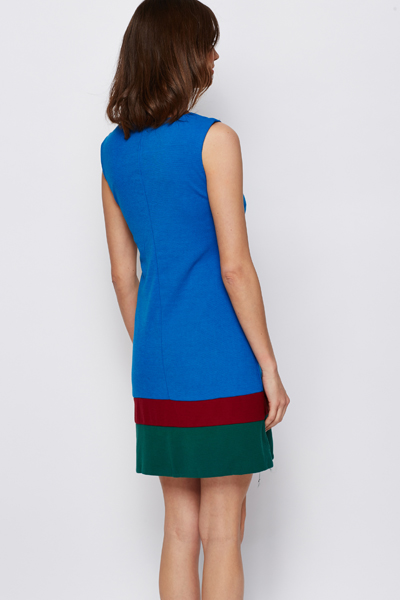 Colourful Stripe Hem Dress