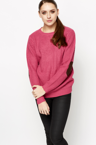 Suedette Elbow Patch Jumper