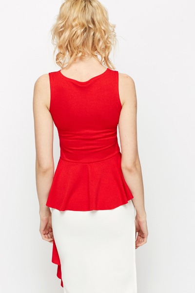 Asymmetric Peplum Top