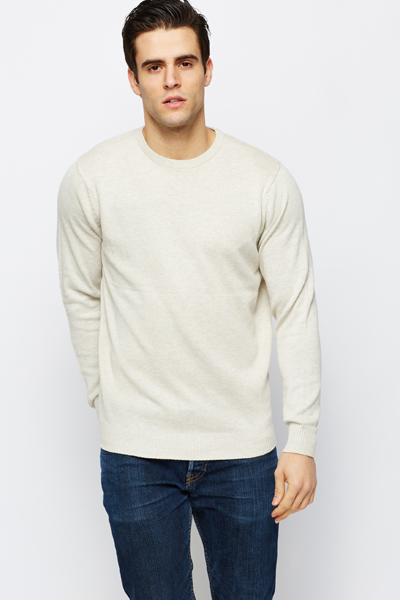 Round Neck Cotton Pullover