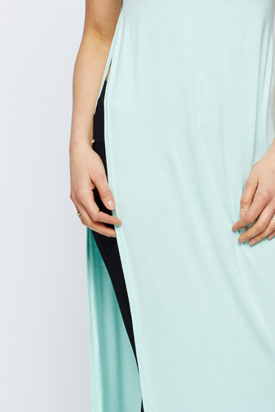 Slit Side Mint Maxi Top