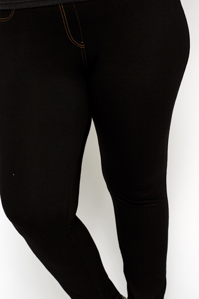 Casual Black Jeggings