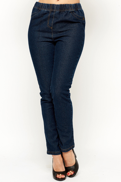 High Waisted Denim Trousers