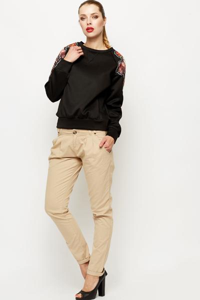 Pleat Front Cotton Trousers