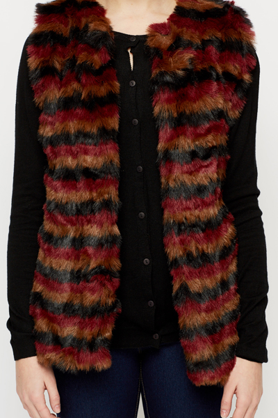 Multi Faux Fur Gilet