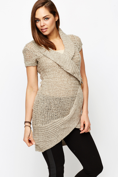 Buckle Side Dip Hem Jumper Dress