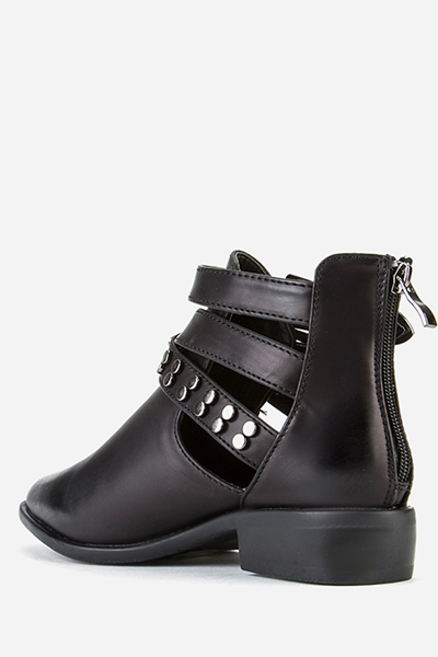 Cut Out Sides Studded Trim Boots