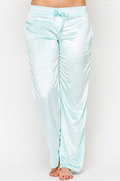 Velveteen Blue Jogging Bottoms