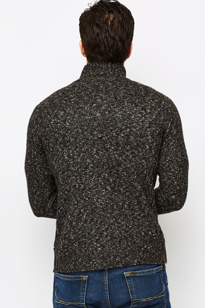 Button Up Speckled Jumper