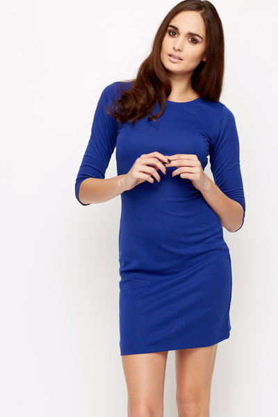 Cut Out Twisted Back Bodycon Dress