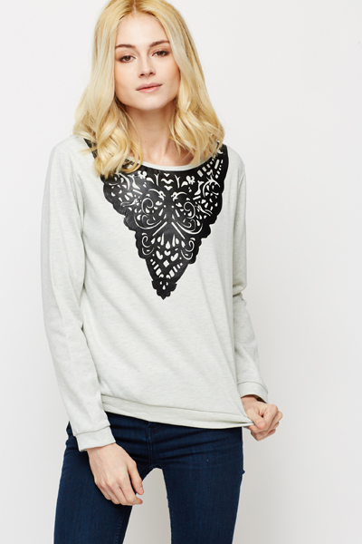 Tapestry Print Sweater