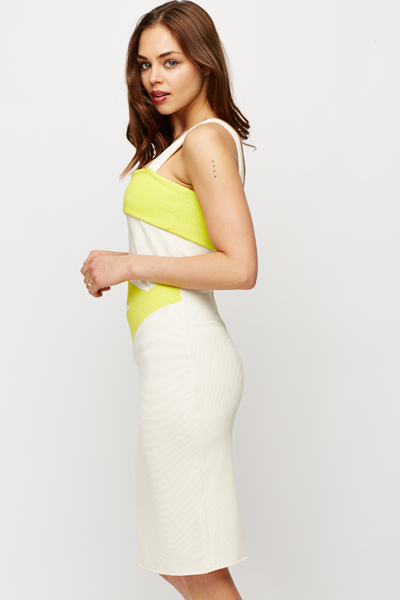 Textured Fold Down Bodycon Dress