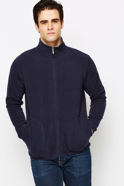 Fleece Zip Neck Jumper