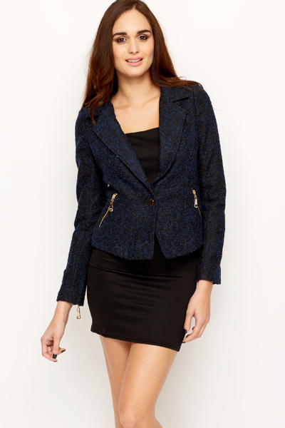 Metallic Blend Woven Jacket