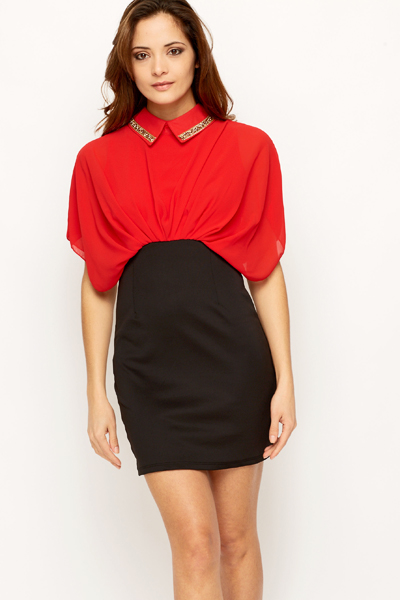 Embellished Collar Dress