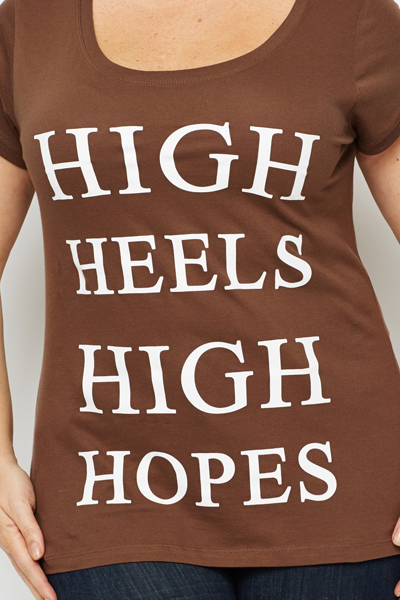High Heels Slogan Top