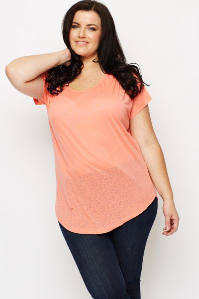 Patterned Coral Tunic