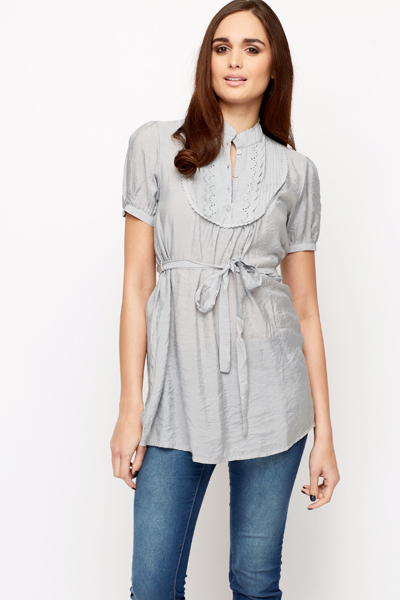 Scallop Trim Tunic