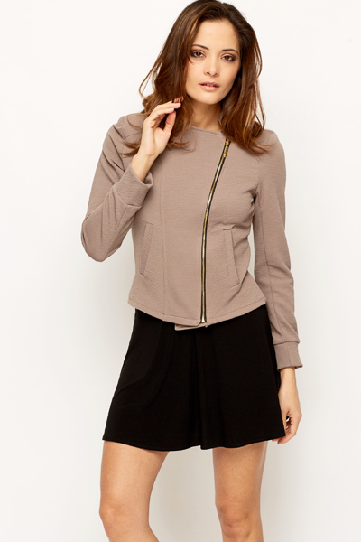 Zip Front Short Jacket