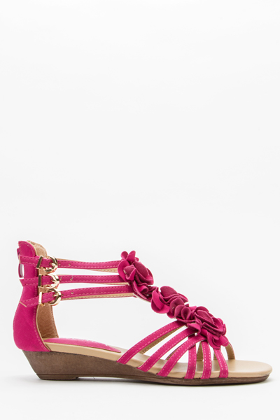 d373fa482fd0 Floral Wedge Sandals - Just £5