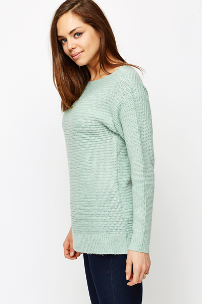 Off Shoulder Knitted Pullover