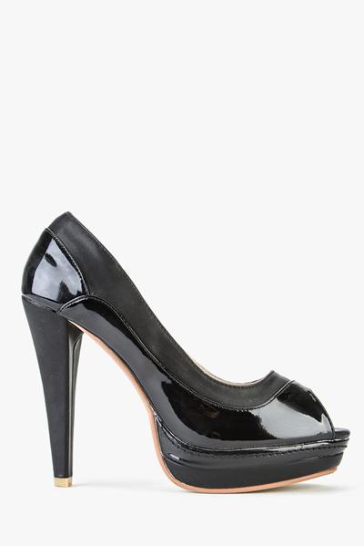 PVC Open Toe Heels