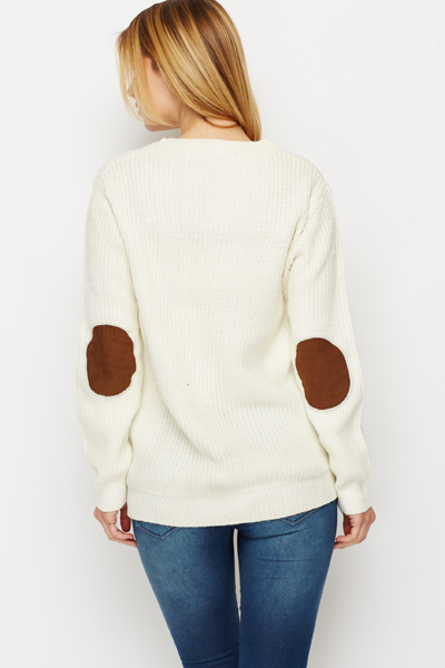 Round Ribbed Neck Pullover