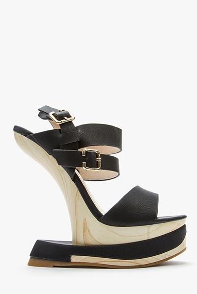 curved wedge strappy sandals beige or camel just 163 5