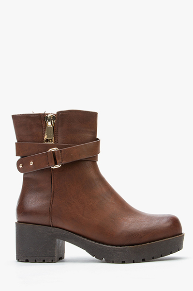 Double Strap Ankle Boots