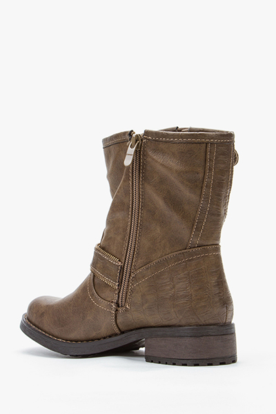 Side Buckled Ankle Boots