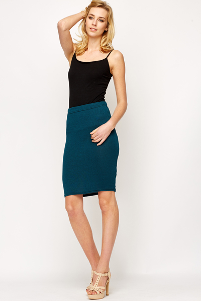 Speckled Stretch Bodycon Skirt