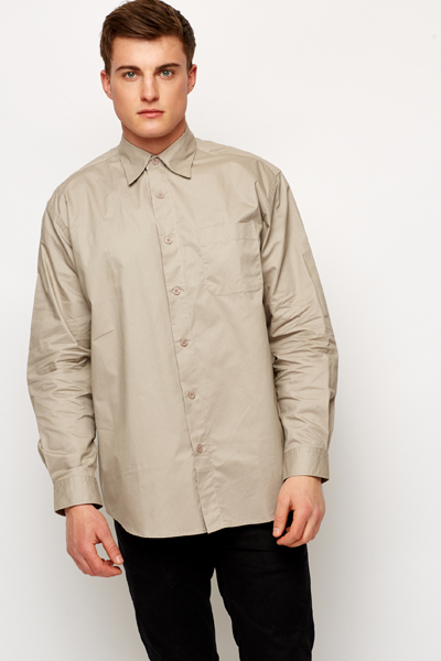 Beige Mens Work Shirt - Just £5
