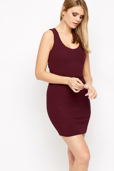 Strappy Back Bodycon Dress