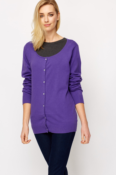 Crystal Button Cardigan