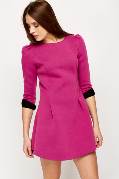 Long Sleeve Scuba Dress