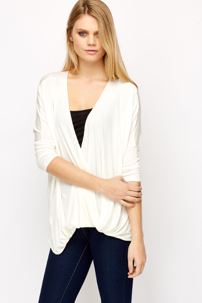 Low Cut Wrap Front Top Just 163 5