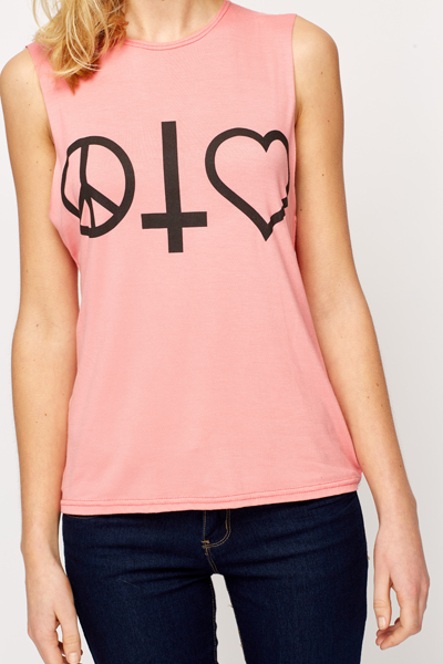 Peace & Love Drop Arm Vest